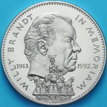 Либерия 1 доллар 1993 год. Вилли Брандт.