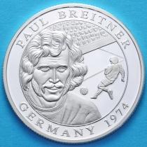 Либерия 10 долларов 2001 год. Пауль Брайтнер. Серебро.