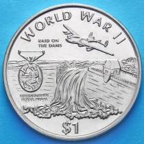 Либерия 1 доллар 1997 год. Медаль за боевые заслуги в небе.