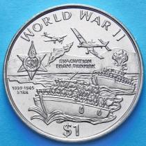 Либерия 1 доллар 1997 год. Звезда 1939-1945.