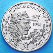 Либерия 1 доллар 1994 год. Найджел Мэнселл.