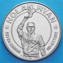 Либерия 1 доллар 1993 год. Нолан Райан.