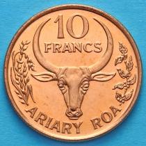 Мадагаскар 10 франков 1996 год.