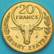 Мадагаскар 20 франков 1987 год.