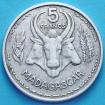 Мадагаскар 5 франков 1953 год.
