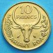 Монета Мадагаскара 10 франков 1989 год.