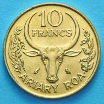 Малагаси (Мадагаскар) 10 франков 1989 год.