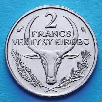 Малагаси (Мадагаскар) 2 франка 1965 год.