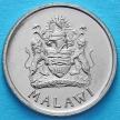 Монета Малави 5 тамбала 1995 год. Пурпурная цапля. Герб.