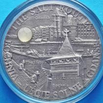 Малави 20 квача 2009 год. Соляная дорога. Бохня-Гданьск. Серебро, Antique Finish