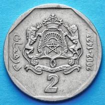 Марокко 2 дирхама 2002 (1423) год.
