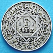 Французское Марокко 5 франков 1951 год.