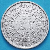 Марокко 100 франков 1953 год. Серебро