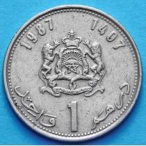Марокко 1 дирхам 1987 (1407) год.