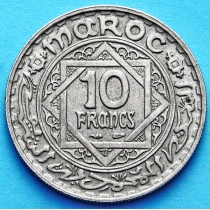 Марокко Французское 10 франков 1947 год.