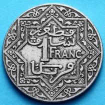 Марокко Французское 1 франк 1924 год.