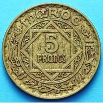 Французское Марокко 5 франков 1946 год.