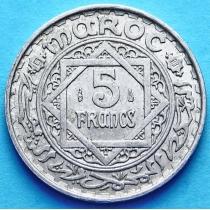 Марокко Французское 5 франков 1951 год. XF+