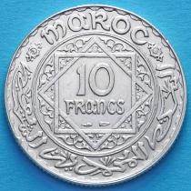 Марокко 10 франков 1933 год. Серебро