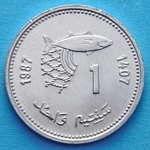 Марокко 1 сантим 1987 год. ФАО.