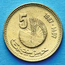 Марокко 5 сантим 1987 год. ФАО