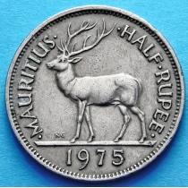 Маврикий 1/2 рупии 1975 год. Олень