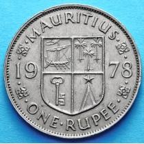 Маврикий 1 рупия 1956-1978 год.