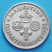 Маврикий 1/4 рупии 1950 год.