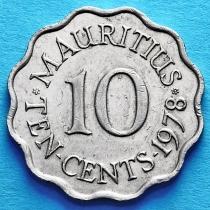 Маврикий 10 центов 1971-1978 год.
