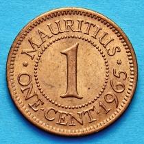 Маврикий 1 цент 1965 год.