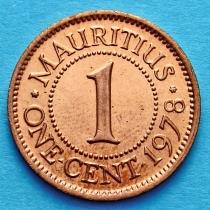 Маврикий 1 цент 1978 год.