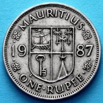 Маврикий 1 рупия 1987-2012 год.