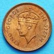 Монета Маврикия 1 цент 1949 год.