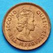 Монета Маврикия 1 цент 1965 год.