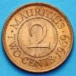 Монета Маврикия 2 цента 1969 год.
