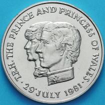 Маврикий 10 рупий 1981 год. Свадьба принца Чарльза и леди Дианы.