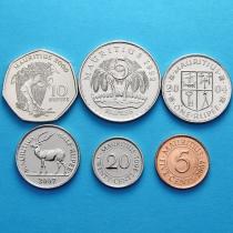 Маврикий набор 6 монет 1992-2007 год.