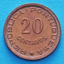 Португальский Мозамбик 20 сентаво 1974 год.