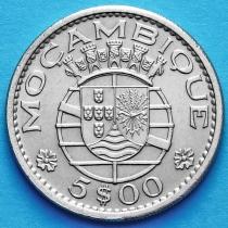 Португальский Мозамбик 5 эскудо 1971 год.