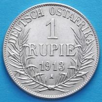 Немецкая Восточная Африка 1 рупия 1913 год. А. Серебро.