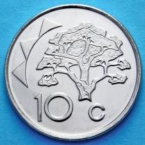 Намибия 10 центов 1993-2012 год. Верблюжья акация.