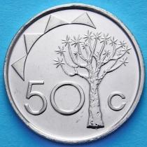 Намибия 50 центов 2010 год. Колчанное дерево.