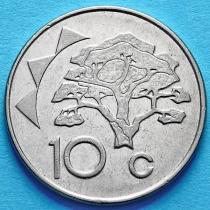 Намибия 10 центов 1993-1998 год. VF.