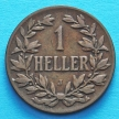 Монета Германской Восточной Африки 1 геллер 1905 год. J VF