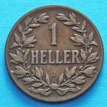 Немецкая Восточная Африка 1 геллер 1905 год. J VF