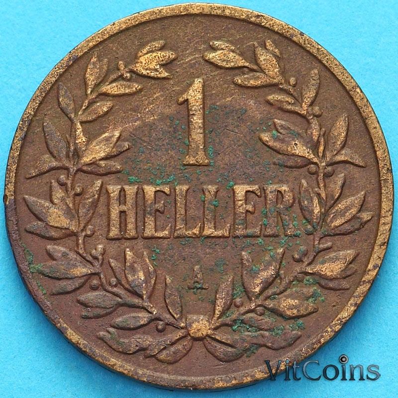 Монета Германской Восточной Африки 1 геллер 1904 год. А