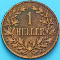 Немецкая Восточная Африка 1 геллер 1905 год.А