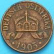 Монета Германской Восточной Африки 1 геллер 1905 год. А