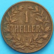 Немецкая Восточная Африка 1 геллер 1905 год. J XF