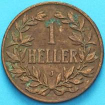 Немецкая Восточная Африка 1 геллер 1907 год. J